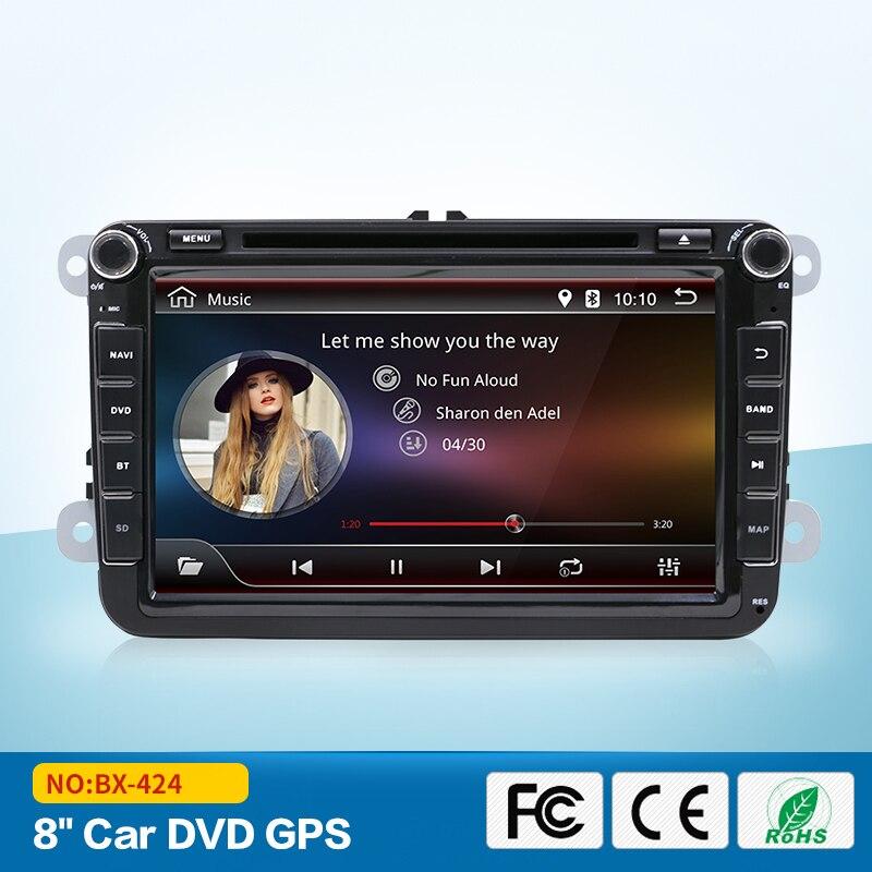 Pour VW Passat Golf Jetta Tiguan Touran Skoda Android 7.1 DAB + autoradio 2 DIN Wifi Auto Radio unité de tête GPS Navi livraison gratuite