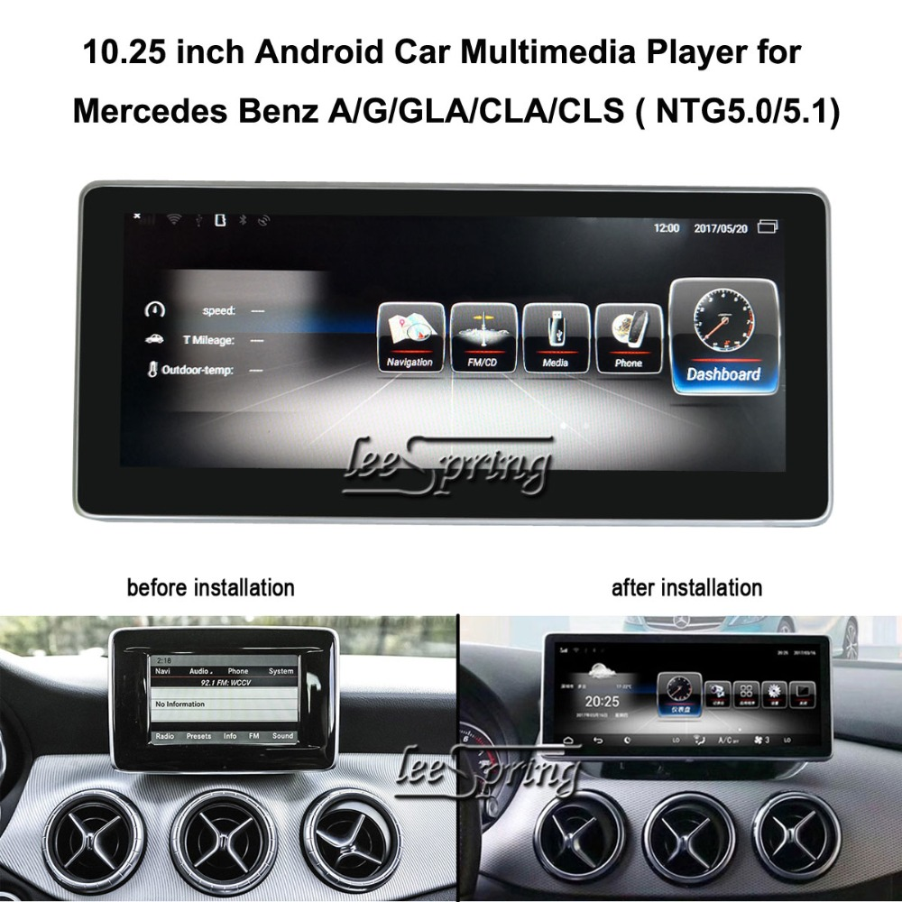 10.25 inch Car Multimedia Player for Mercedes Benz GLA C 117/GLA X156 NTG 4.5/4.7/5.0/5.1 Car GPS Navigation Android 7.1