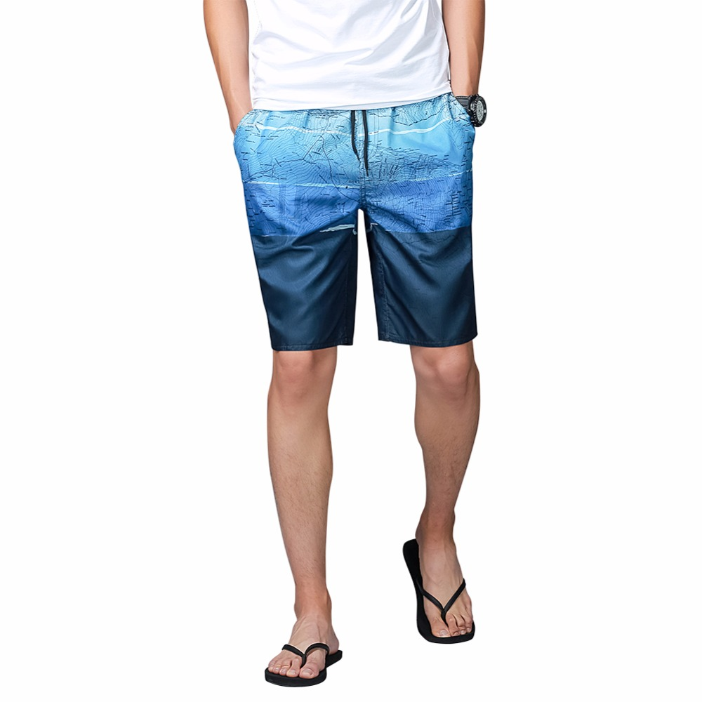 New Beach Shorts Men England Style Print Homme Short Pants Bermuda Quick Dry Trunks Shor ...
