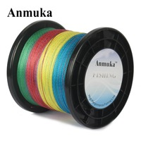 Anmuka Brand 10M 1 Color 8 Strands 500M Mulifilament Braided Fishing Line 20lb 80lb Top Series