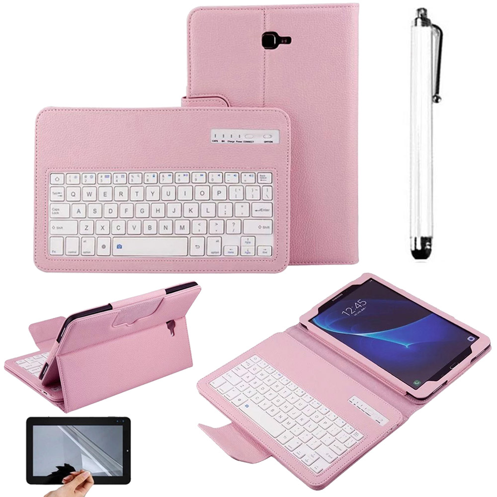Eagwell 2 in 1 Removable wireless Bluetooth Keyboard + PU Leather Case For Samsung GALAXY Tab A 10.1 T580 removable wireless bluetooth russian hebrew spanish keyboard stand pu leather case for samsung galaxy tab a 9 7 t555 t551 t550