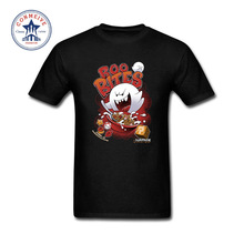 2017 Funny Hip Hop Printed Funny Geek Boo Bites Super Mario Boo Game Funny Cotton T Shirt for men