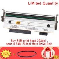 printhead print head Print head Printhead For Zebra S4M 203dpi Thermal Barcode Printer P/N:G41400M,give away S4M 203dpi Main Drive Belt (1)