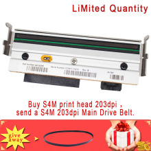 Print head Printhead For Zebra S4M 203dpi Thermal Barcode Printer P/N:G41400M,give away S4M 203dpi Main Drive Belt цена
