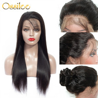 360 Синтетические волосы на кружеве al парик прямо Синтетические волосы на кружеве парик Ossilee перуанские прямые волосы парики шнурка предвари