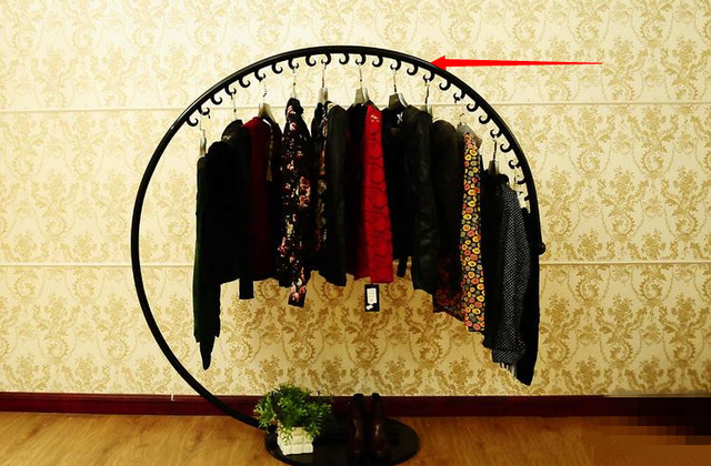 Clothing Racks Display Shelf Wrought Iron Clothes Rack Hang Mens Wear Womens