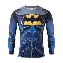 Men Long Sleeve Compression good T Shirt Marvel cycling bikeman Captain America Tights Fitness Men Clothing Tees jacket running
