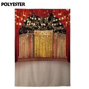 Image 4 - Allenjoy fotoğraf backdrop sahne altın lüks sirk arka plan photocall ateş prop stüdyo dekor stüdyo parti baskılı