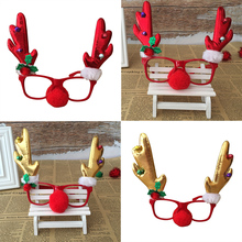 2018 Fashion Christmas decoration glasses frame Handmade  childrens gifts masquerade jewelry headband Deer Snowman