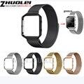Milanese Loop Band + Marco de Metal de 23mm para Blaze Fitbit Inteligente Fitness Reloj Correa de Acero Inoxidable Magnético Cierre Enlace pulsera
