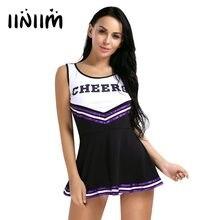 dc261ca0e7fe iiniim 2 Color Women School Girls Musical Cheerleader Costume Fancy Mini  Dress for Dance Party Dress