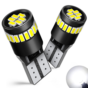 AUXITO 2x W5W T10 LED Canbus Bulbs Error Free 3014 SMD Car Clearance Parking Lights Reading Auto Trunk Lamp 12V White Blue Color(China)
