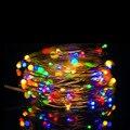 SOLSOLAR 10 M 100LED Novidade Cobre Luzes De Fadas 5 V USB Luz LED Noite Para O Brinquedo de Mesa Flor partido Home decoração luz noturna