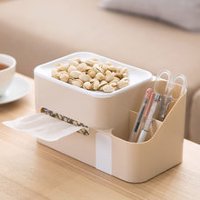 Plastic tissue box home coffee table paper tray Creative living room tabletop paper napkins storage boxes paper box(China)