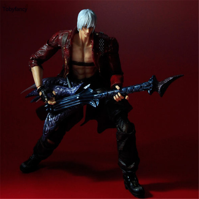 Devil May Cry 3 Action Figure Toys Playarts Kai Anime Toy Movie Dante Play Arts Kai 25CM Collection Model batman joker action figure play arts kai 260mm anime model toys batman playarts joker figure toy