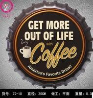 35 cm Más Café Cerveza Tapa de la Botella Decoración del Hogar de la Vendimia de Estaño entrar Bar Pub Decoración de la Pared de Metal Signo 3D de Metal Placa de Metal Poster