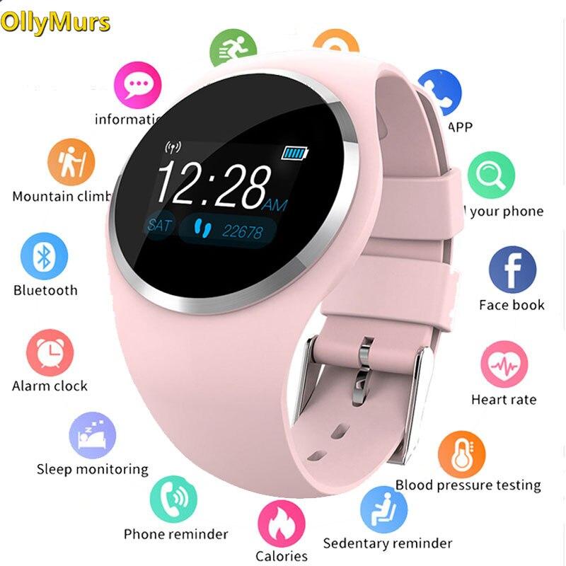 Q1 Bluetooth Dama Da Moda Das Mulheres do Relógio Monitor de Freqüência Cardíaca de Fitness Rastreador Smartwatch Inteligente Apoio APP Para IOS Android pk Q8 q9