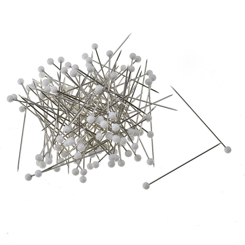 100pcs box Sewing Needle Pins Round Head Dressmaking Pins Weddings Corsage Florists Patchwork Pins DIY Craft Tools For Women in Pins Pincushions from Home Garden
