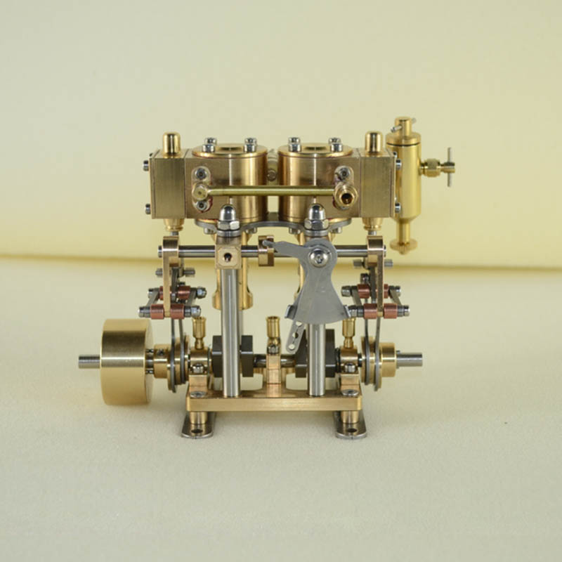 New Products Two cylinder reciprocating steam engine model Birthday steam engine model