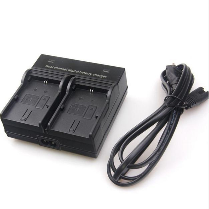 Dual Channel Battery Charger For Canon LP-E6 70D 60D 7D 6D 5Ds 7D 7D Mark II 5D Mark II 5D Mark III