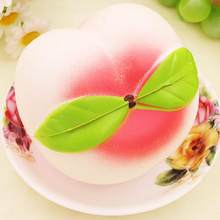 1 Pc 10CM Squeeze Slow Rising Peach Pendant Phone Straps Charms Queeze Kid Toys Cute squishies Bread Cake Kids Toy Xmas(China)
