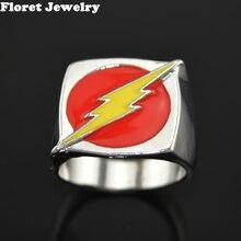 012dc89f630 O anel de flash superhero dc comics movie jóias réplica do flash temporada  2 novos anéis