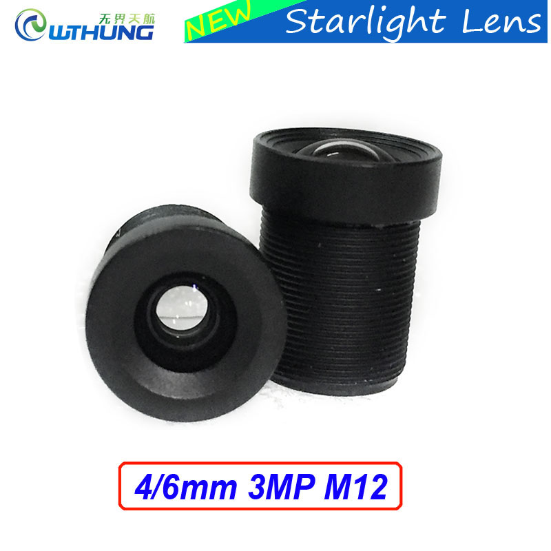 New CCTV lenses Starlight 3MP 4mm/6mm M12 mount MTV Lens Fixed Aperture F1.5 For SONY IMX290/IMX291 Sensor Security IP/AHD Cam starlight lens 3mp 4mm fixed aperture f1 5 for sony imx290 imx291 ip camera free shipping