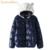 2016 mujeres del invierno del otoño caliente del corazón bordado chaqueta de algodón acolchado chaqueta femenina del oído de gato para damas elegantes Espesar abrigos