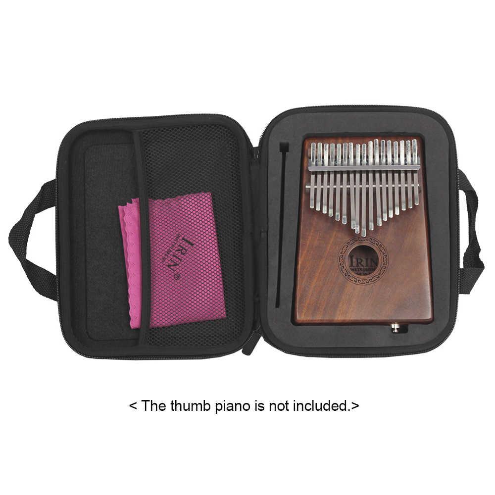 Mbira ボックスバッグ 17 キーカリンバケース親指ピアノ耐水性ショックプルーフ手袋指サッククリーニングクロス