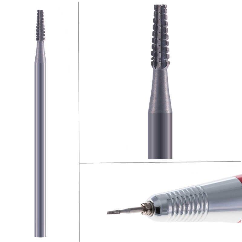 Karbida Kutikula Bersih Nozzle Bit Mata Bor Pemotong Penggilingan untuk Nail Art Electric Manikur Mesin Burr Pedikur Tools