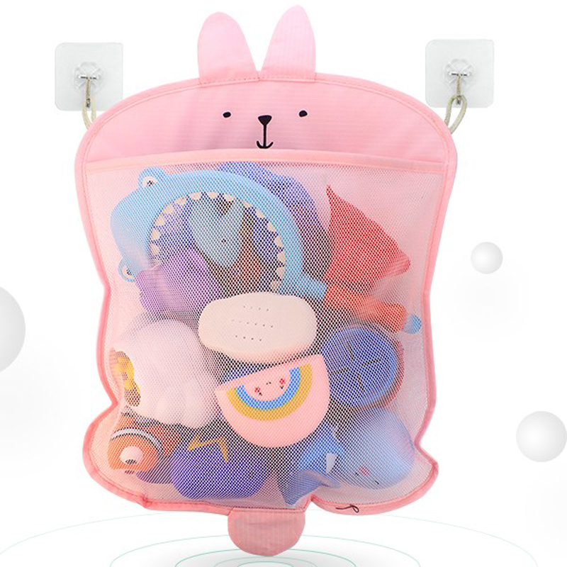Sucker Hanging Bag Bathroom Bath Cosmetics Toys Storage Bag Child Baby Toiletries Storage Bag Cosmetic Toys Organizer B