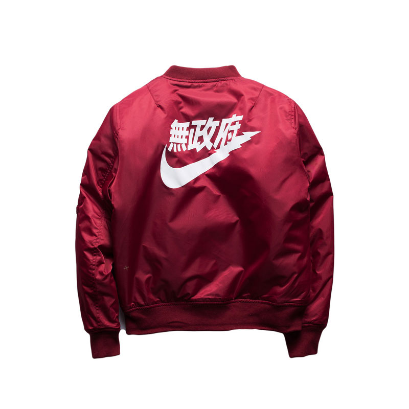 MA1 Bomber Jackets Mens 2017 Kanye West Tour Flight Pilot Bomber Jacket Mesn Kanji Japanese Merch Flight Coat Streetwear