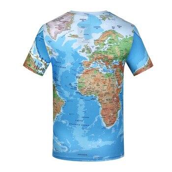KYKU Brand 3D World Map T-shirt  New 1