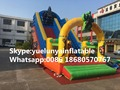 Directo de fábrica castillo inflable castillo de diapositivas diapositivas grandes obstáculos Animales combinación KY-710