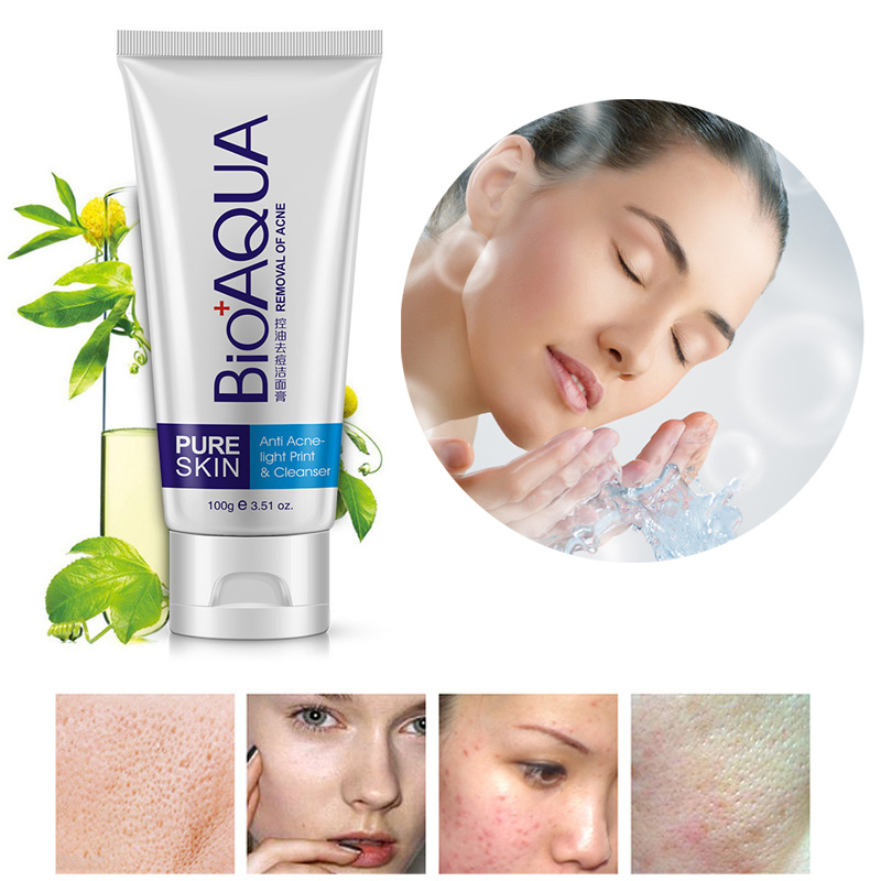 Acne Treatment Facial Cleanser Black Head Remove Oil-control Deep Cleansing Foam Shrink Pores WH998