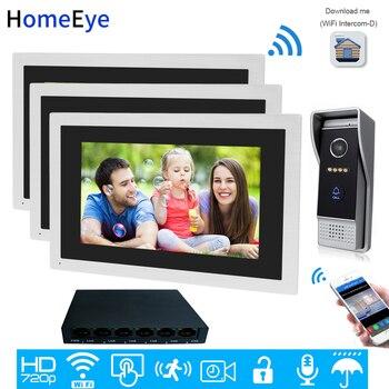 720P HD 10 дюймов Сенсорный экран WiFi IP видео-телефон двери видео домофон 1-3 дома Система контроля доступа Android IOS App дистанционная разблокировка