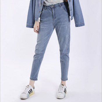 42950d2035 2019 Mujer Plus tamaño pantalones vaqueros Femme azul novio Jeans para  mujeres de gran tamaño de