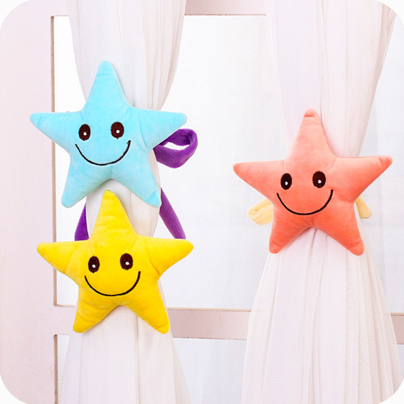 Hot Sale Baby Kid Cartoon Curtain Buckle Hook Pentagram Curtain tieback Bedroom Window Accessories 5 Colors