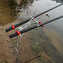 New Arrival Foldable Adjustable Double Pole Bracket Fishing Rod Stand Holder Sea Fishing Tackle Accessory Tool