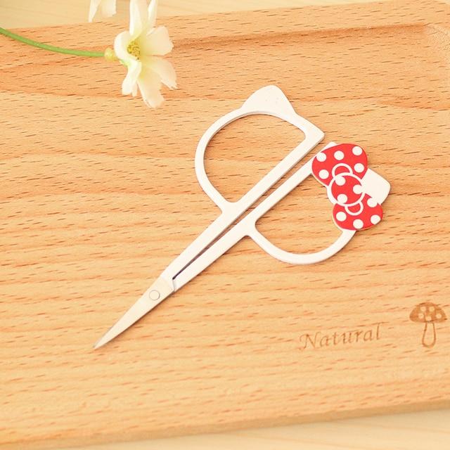 Kawaii Hello Kitty Eyebrow Trimmer Razor Eyebrow Scissors Knives Beauty Makeup Nose Hair Scissors Threading Scissors G27 2