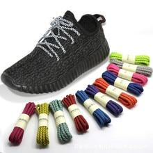 wholesale Glowing Round Shoelaces Glow In the Dark sneaker Shoe Laces Luminous Shoelaces Color Fluorescent Shoestring