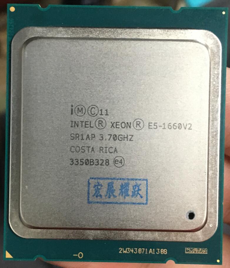 Intel Xeon Processeur E5 1660 V2 E5-1660 V2 CPU LGA2011 Serveur processeur 100% fonctionne correctement De Bureau Processeur E5-1660V2