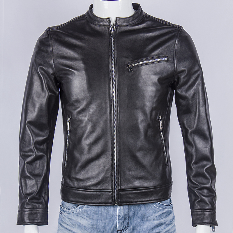 Free Shipping.classic Japan Style Jacket,mens 100% Sheepskin Coat.fashion Slim Genuine Leather Jackets.plus Size,sales