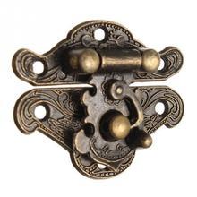 Антикварная ретро винтажная декоративная деревянная шкатулка с защелкой замок на грудь