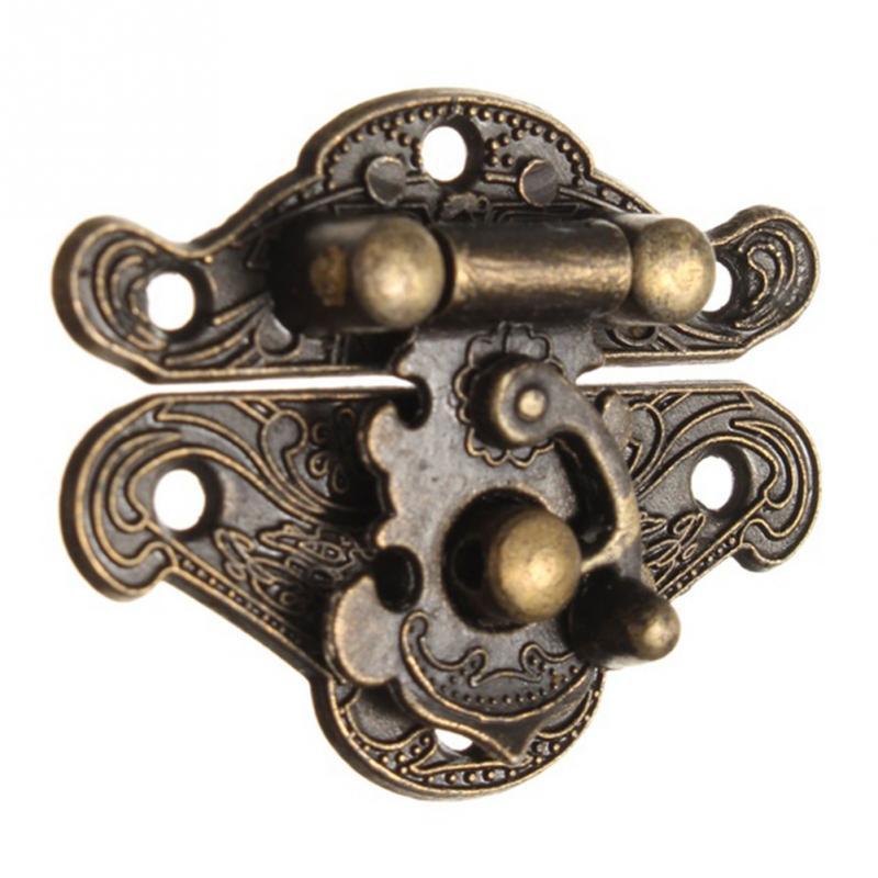 Antique Retro Vintage Decorative Latch Wooden Jewelry Box Hasp Pad Chest Lock