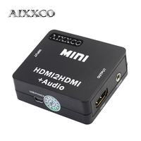 AIXXCO 1080P Mini HDMI2HDMI Audio HD Converter HDMI To HDMI Audio Extractor Adapter Switcher For PC