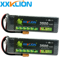 2pcs XXKLION 3S 11.1V 3500mah 25C 30C 35C 40C 60C rc drone Lipo Battery Remote Helicopter Four Axis Car Power T XT60 TRX Plug