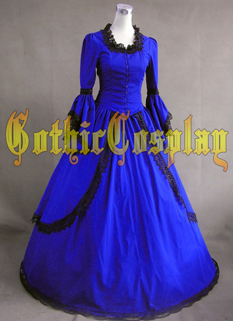 Adulte sud belle costume Halloween costumes pour femmes bleu victorien robe de bal gothique lolita robe grande taille personnalisé