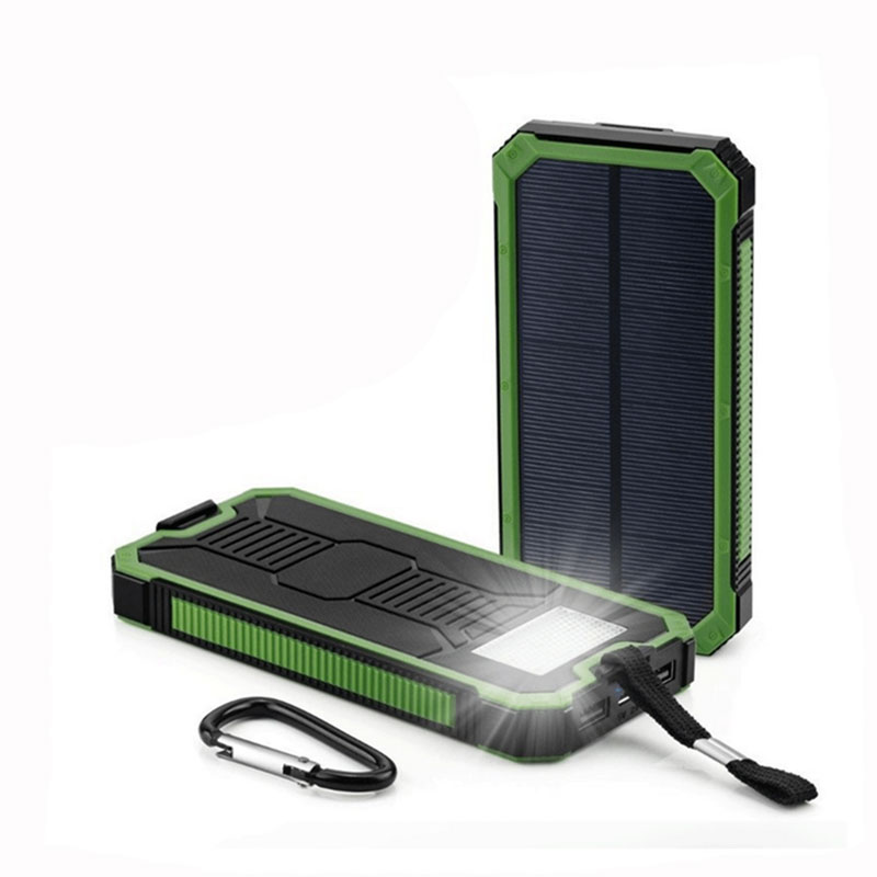 Solar Light Power bank 6000mAh Portable Solar Powerbank Extreme MobilePhone Battery case Charger Pack Dual USB LED Fo 1800mah portable solar power solar power battery pack for cell phones and usb gadgets
