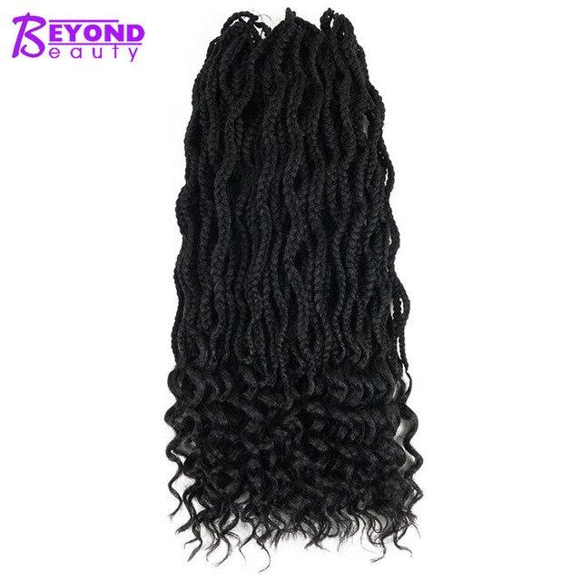 Beyond Beauty Goddess Box Braids Curly Crochet Hair Extensions